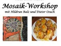 Recycling Kunst Mosaik-Workshop 2016 mit Hildrun Balz und Dieter Osuch
